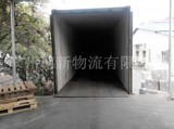 仓库集装箱装货Warehouse container loading