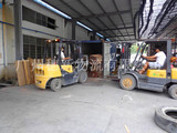 叉车(木材装柜情况)Forklift truck (wood loading condition)